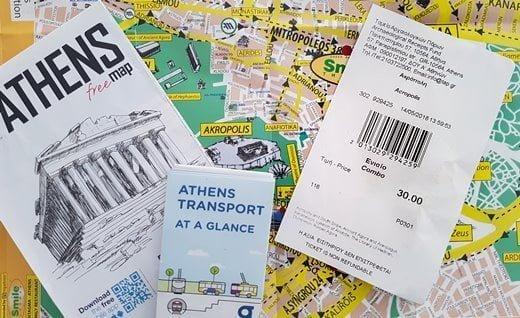 Le billet combiné pour l'Acropole et d'autres sites antiques à Athènes.